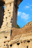 The ancient stones of the Colosseum (Rome) are not subject to time. Stock Photography