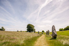 Ancient stones in field Stock Photos