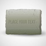Ancient stones with inscriptions. Vector Stock Photography