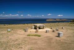 Ancient stones on Isla del Sol Stock Photography