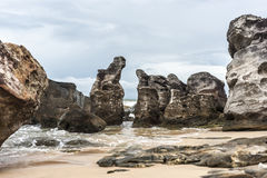 Ancient stones at sea Royalty Free Stock Images
