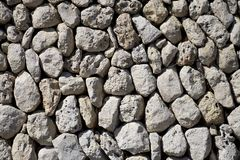 Ancient stones wall Royalty Free Stock Images