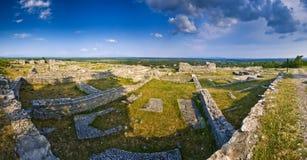 Ancient stonewalls of Bribirska glavica Royalty Free Stock Images