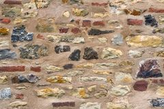 Ancient Stonework. Fragment of the picturesque medieval masonry walls Royalty Free Stock Photography