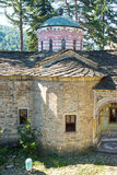 Ancient stonework temple Troyan Monastery, Bulgaria royalty free stock image