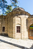 Ancient stonework temple Troyan Monastery in Bulgaria royalty free stock images