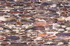Ancient stonework wall. Brown ancient stonework or masonry wall as seamless pattern Royalty Free Stock Image
