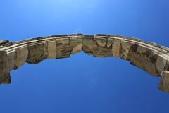 Ancient stony arc. Against the blue sky Stock Image