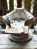 Ancient stove for cook Stock Photo