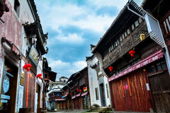 Ancient street(Chinese building Huizhou architecture) Stock Images
