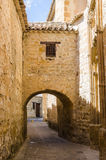 Ancient street with arc in Baeza Stock Photo