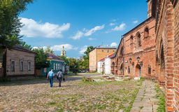 Ancient street in the center of Moscow, Russia (Krutitskoe Compo Stock Images