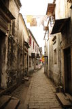 Ancient street in Chinese town Stock Photos