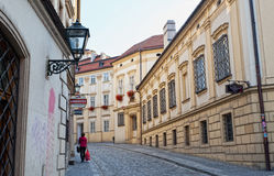Ancient street in the city of Brno Royalty Free Stock Images