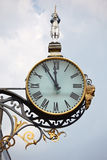 Ancient street clocks Royalty Free Stock Photo