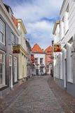 Ancient street with cobblestones, Heusden, Netherlands Stock Image
