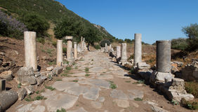 Ancient Street in Ephesus Stock Photography
