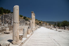 Ancient Street in Ephesus Stock Images