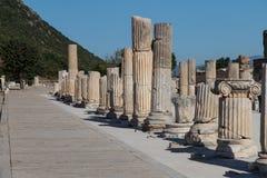 Ancient Street in Ephesus Stock Photos