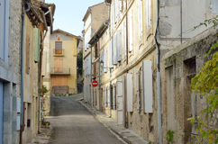 The ancient street in the French town Nerac Royalty Free Stock Photo
