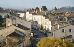 The ancient street in the French town Nerac Stock Images