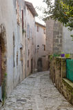 The ancient street in the French town Nerac Royalty Free Stock Image