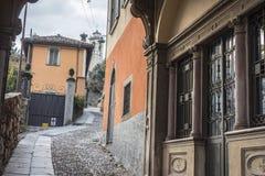 Ancient street historic citta alta, area san Vigilio in Bergamo. Lombardy,Italy stock image