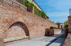 Ancient street, Hradec Kralove, Czech Republic Stock Photography