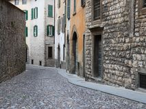 Ancient street in  Italy Royalty Free Stock Photos