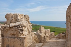 Ancient Street in Kourion Stock Photos