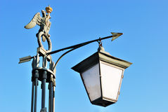 Ancient street lamp Stock Images