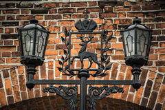 The ancient street-lamp Stock Photos