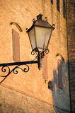 Ancient street lamp in Romagna village travel Italy Stock Images