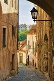 Ancient street of Maribor Slovenia. Ancient street of Maribor, Lower Styria, Slovenia royalty free stock image