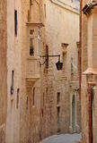 Ancient street in Mdina, Malta Royalty Free Stock Images
