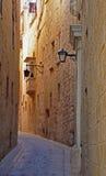 Ancient street in Mdina, Malta Royalty Free Stock Image