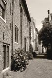 Rustic street with medieval wall houses (Muurhuizen), Amersfoort, Netherlands Royalty Free Stock Photos
