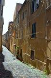 Ancient street. Of old city Alghero, Sardinia Royalty Free Stock Photos