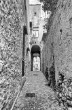 Ancient street in old town of a southern Italy village Stock Image