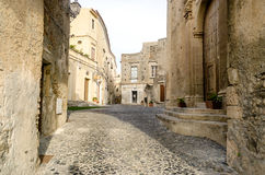 Ancient street in old town of a southern Italy village Royalty Free Stock Image