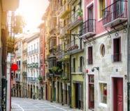 Ancient street. Pamplona, Navarre, Spain. Royalty Free Stock Image