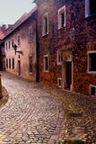 An ancient street in the Polish town Royalty Free Stock Photography