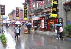 Ancient street in the rain Stock Photos