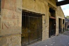 Ancient Street Side Advertising, Herculaneum. Bar Advertisement in Ancient Herculaneum Stock Photography
