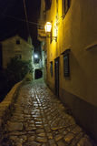 Ancient street in small Mediterranean village Stock Images
