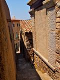 Ancient street in Tosca del Mare Stock Photo