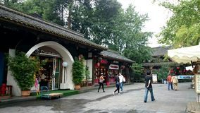 A ancient street under green plants,in chengdu,China Stock Photos