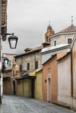 Ancient street of Valladolid Spain Stock Photo