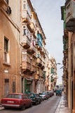 Ancient street in Valletta, Malta. Royalty Free Stock Images