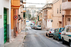 Ancient street in Valletta, Malta. Stock Photo